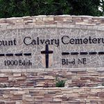 Mount Calvary Cemetery Sign