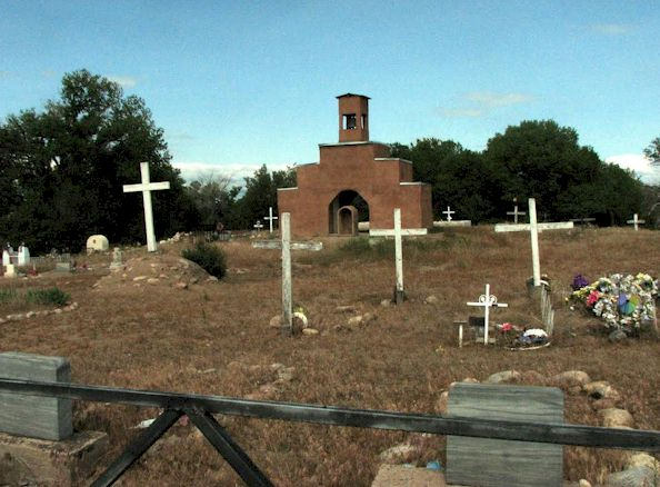 Saint Francis of Assisi Churchyard Cemetery, Nambe, Santa Fe, New Mexico
