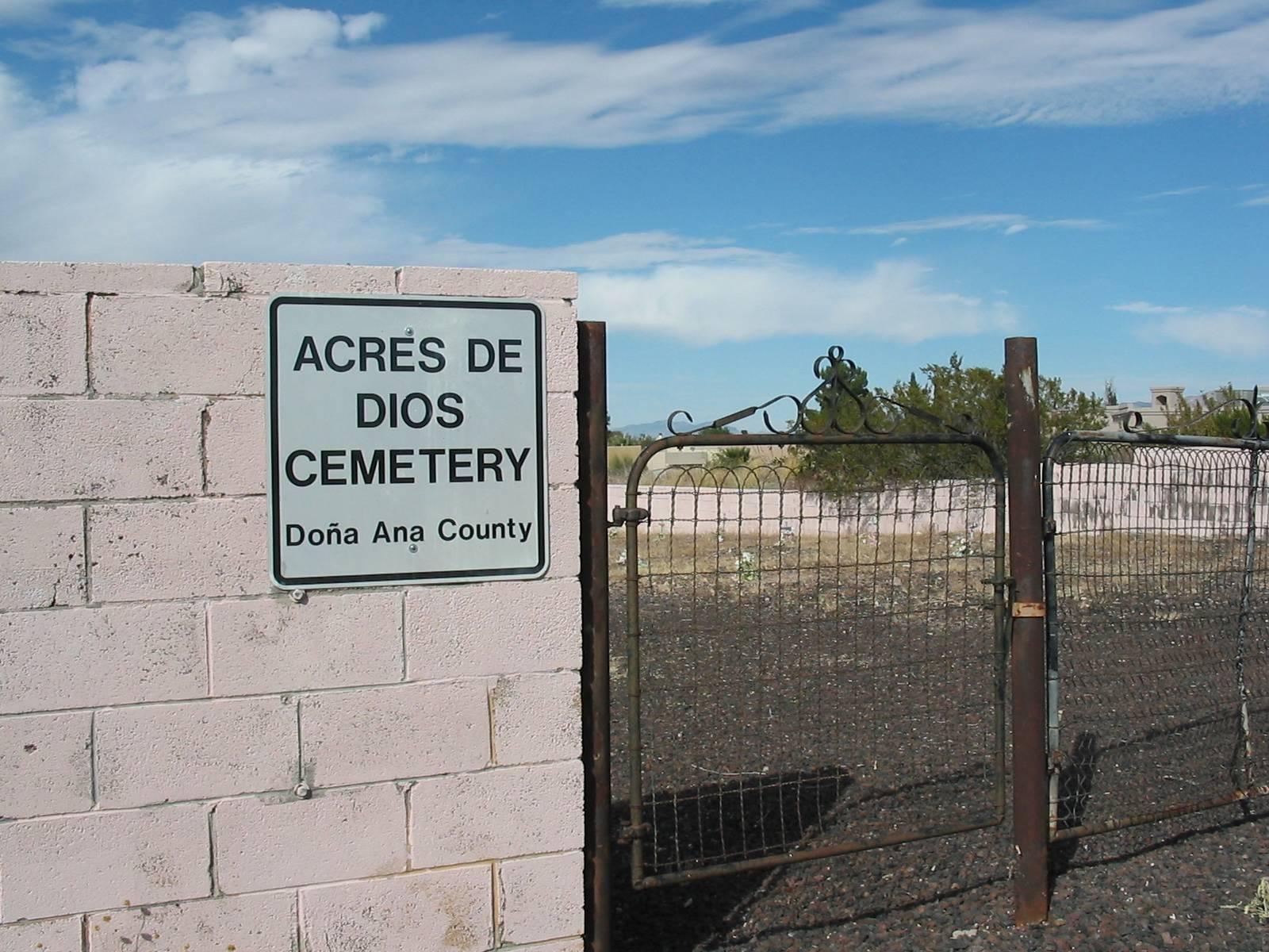 Acres De Dios Pauper Cemetery, Las Cruces, Dona Ana County, New Mexico